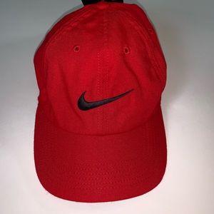 Nike Red with Black Swoosh Dri-Fit Aerobill Hat